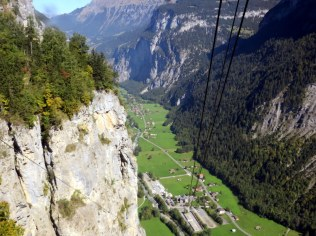 The gondola from Gimmelwald to Stechelberg is a dramatic descent.