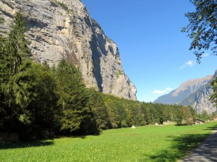 The Lauterbrunnen Valley with it's many waterfalls is quite flat.