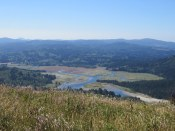The Salmon River estuary is below Cascade Head. It's interesting to see it from above.