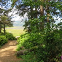 The trail leads to Tillamook Bay.